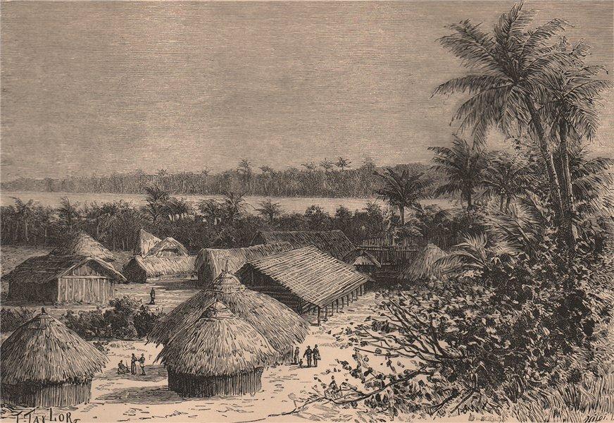 Associate Product View taken at Ujiji. Tanzania 1885 old antique vintage print picture