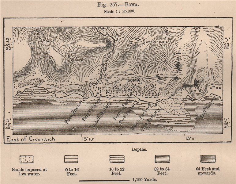 Associate Product Boma. Congo. Congo Basin 1885 old antique vintage map plan chart