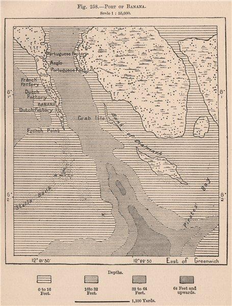 Associate Product Port of Banana. Congo. Congo Basin 1885 old antique vintage map plan chart