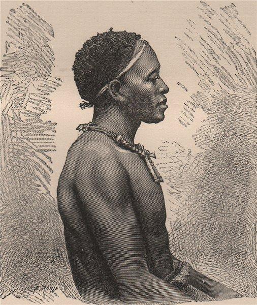 Associate Product Kakongo type. Congo. Congo Basin 1885 old antique vintage print picture