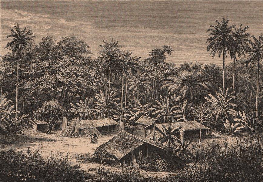 Associate Product Landscape near Quissama/Kissama. Angola 1885 old antique vintage print picture