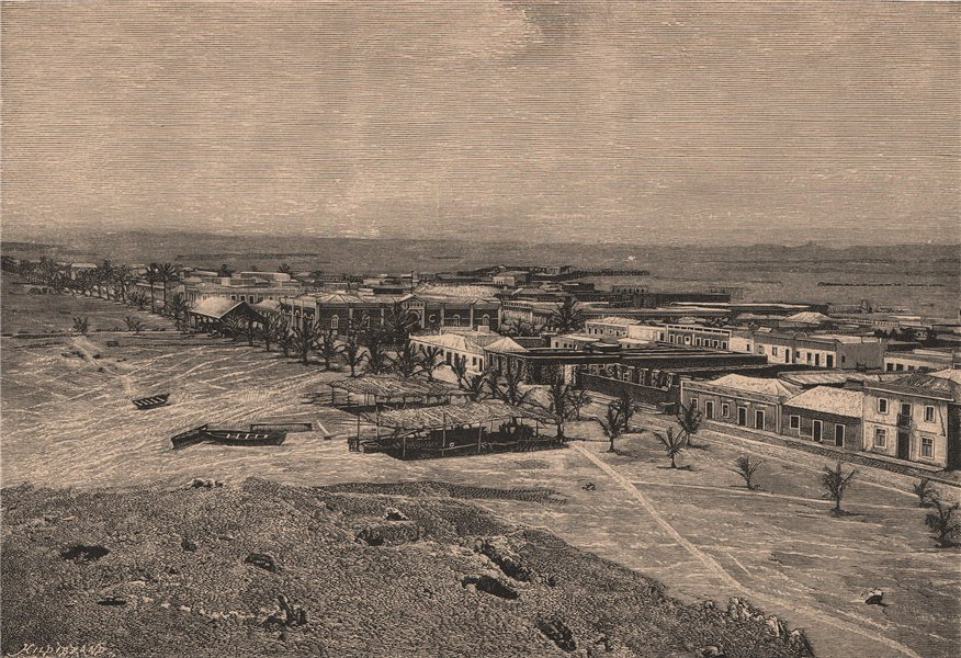 Associate Product Namibe (Namibe/Mossamedes) - General view. Angola 1885 old antique print
