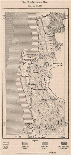 Associate Product Walvis Bay. Namibia. Damara and Namaqua Lands 1885 old antique map plan chart