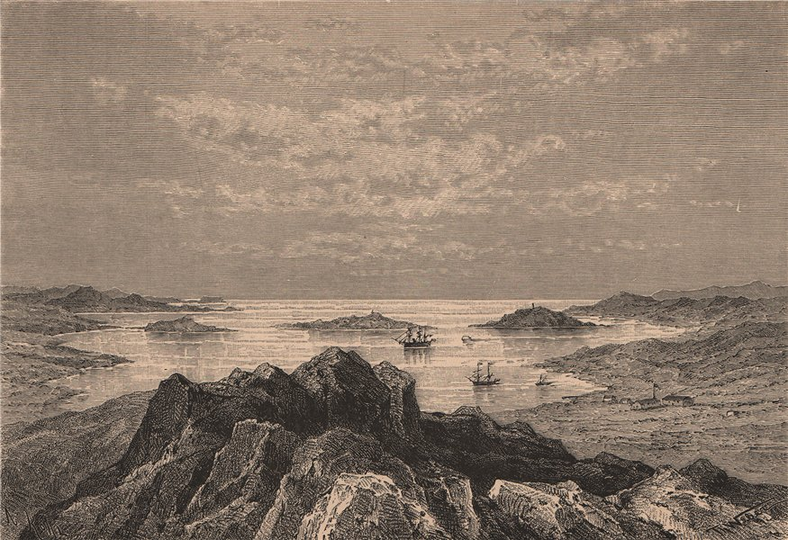 Associate Product Lüderitz (Angra Pequena) - View from Nautilus Point. Namibia 1885 old print