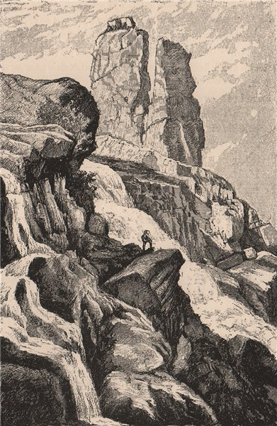 Associate Product Augrabies Falls National Park, Orange River, South Africa 1885 old print