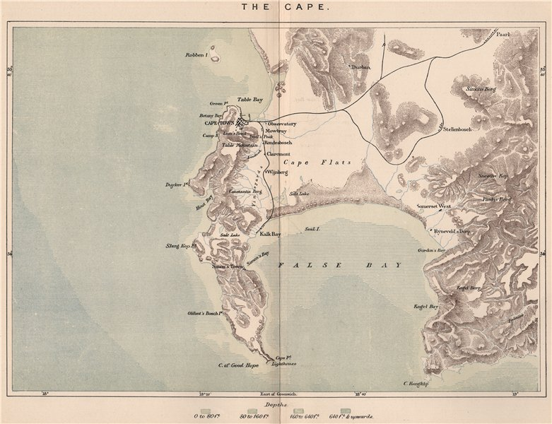 Associate Product The Cape. South Africa. Cape Colony 1885 old antique vintage map plan chart