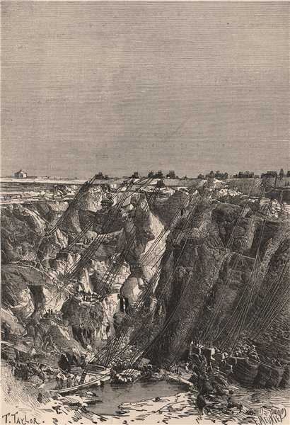 Associate Product Kimberley. Appearance of the Mine in 1880. South Africa. Cape Colony 1885