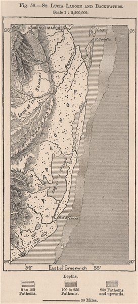 Associate Product St Lucia Lagoon/backwaters. Kwazulu Natal. Isimangaliso Wetlands. Maputo 1885