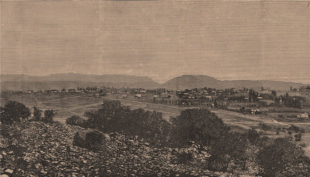 Associate Product General view of Pretoria. South Africa 1885 old antique vintage print picture