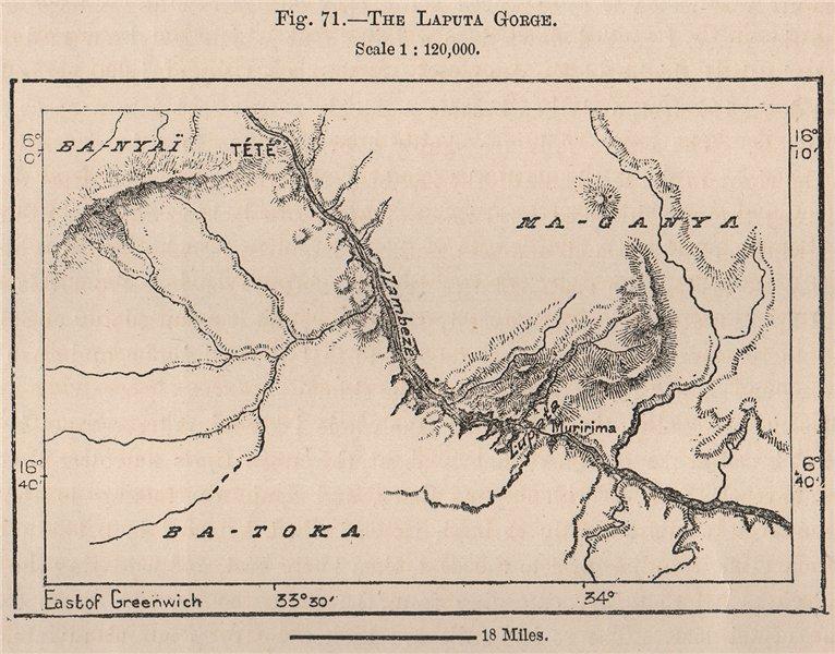 Associate Product The Lupata Gorge, Zambezi River. Mozambique 1885 old antique map plan chart