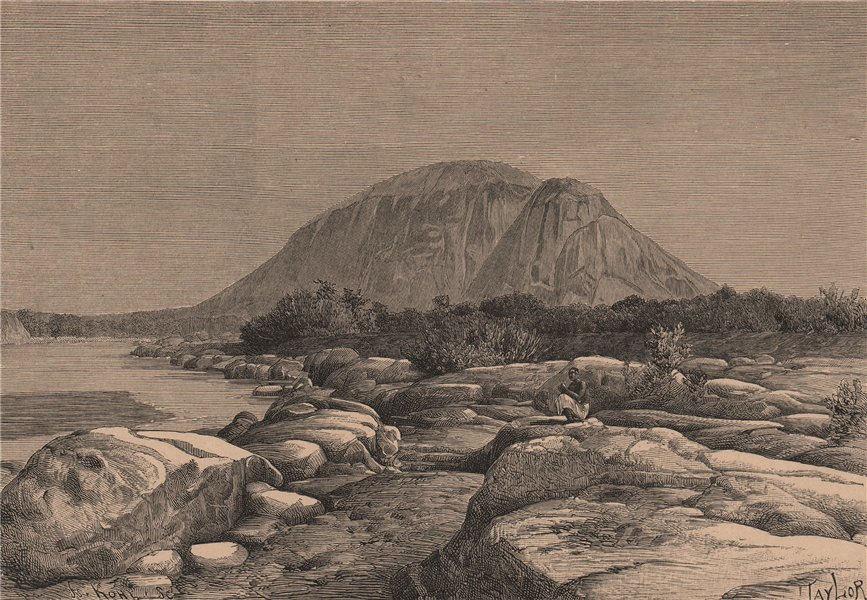 Associate Product Rovuma/Ruvuma and Lugenda/Lujenda Confluence. Mozambique 1885 old print