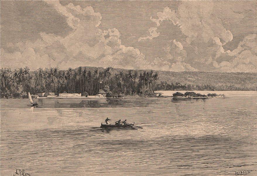 Associate Product Lindi - Seaward view. Tanzania. German East Africa 1885 old antique print