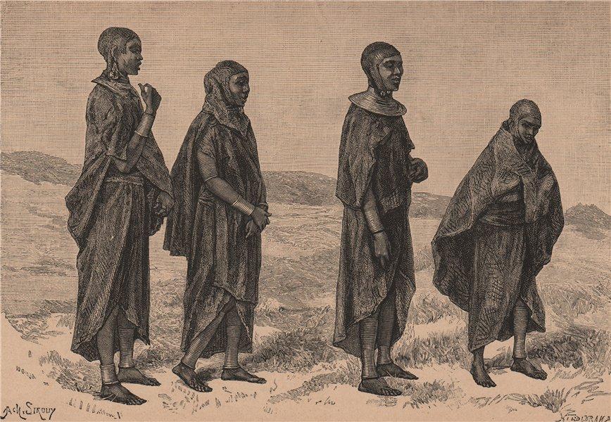 Associate Product Masai Women of Njeri. Kenya. Maasai Land 1885 old antique print picture