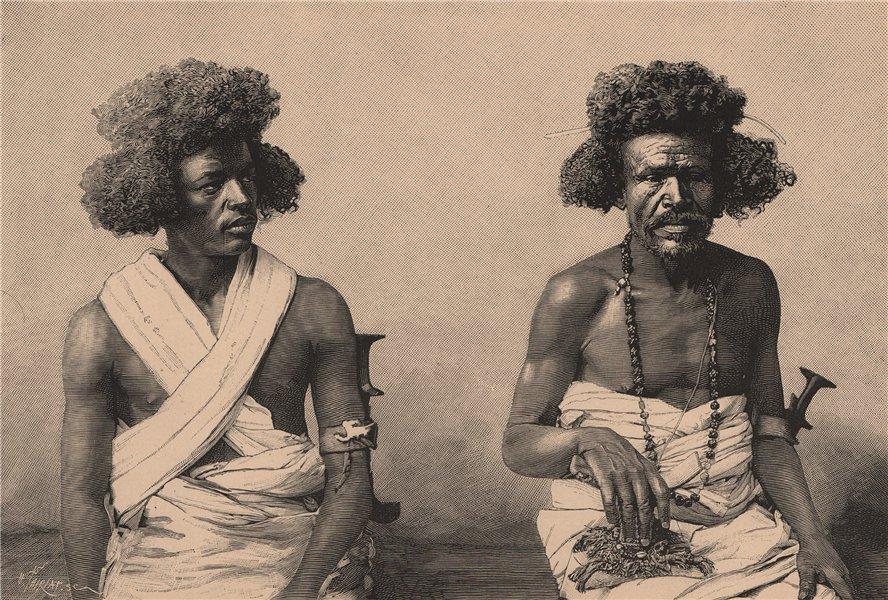 Associate Product Somali people. Somalia 1885 old antique vintage print picture