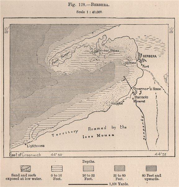 Associate Product Berbera. Somalia 1885 old antique vintage map plan chart