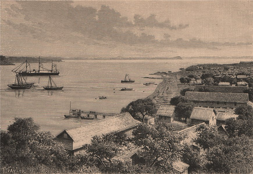 Associate Product Antsiranana Bay - View taken at Antsirana. Madagascar 1885 old antique print