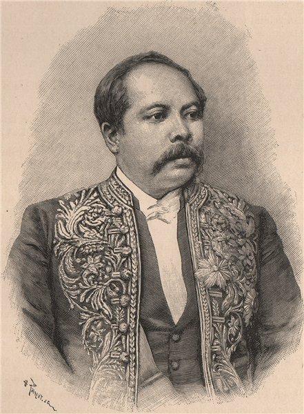Associate Product Ravoninahitraniorivo, Hova Minister. Madagascar 1885 old antique print picture