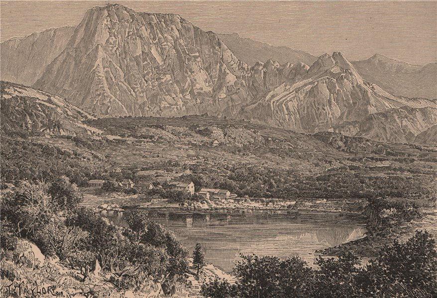 Associate Product Piton d'Enchein, La Reunion. Mascarene Islands. Mascarenhas Archipelago 1885