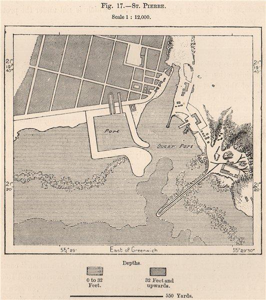 Associate Product St. Pierre. La Reunion. Mascarene Islands. Mascarenhas Archipelago 1885 map