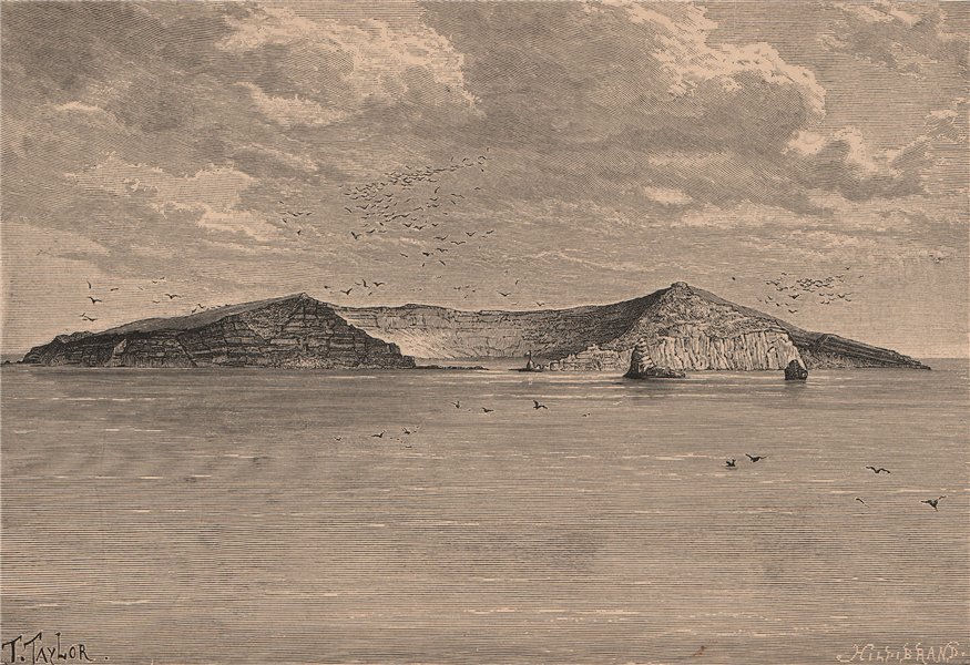 Associate Product Saint Paul island from the North-East. French Southern & Antarctic Lands 1885