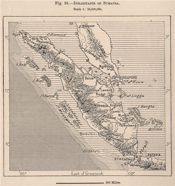 Associate Product Inhabitants of Sumatra. Indonesia. East Indies 1885 old antique map plan chart