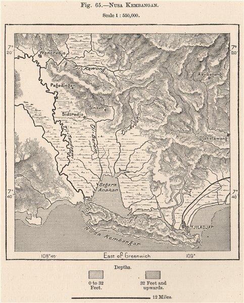 Associate Product Nusa Kambangan island & Cilacap. Java Indonesia. East Indies 1885 old map