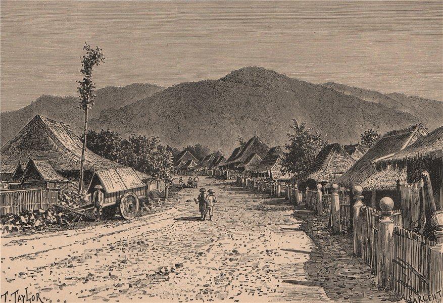 Associate Product Tjimatjan village, near Tjanjue (Cianjur) Java. Indonesia. East Indies 1885