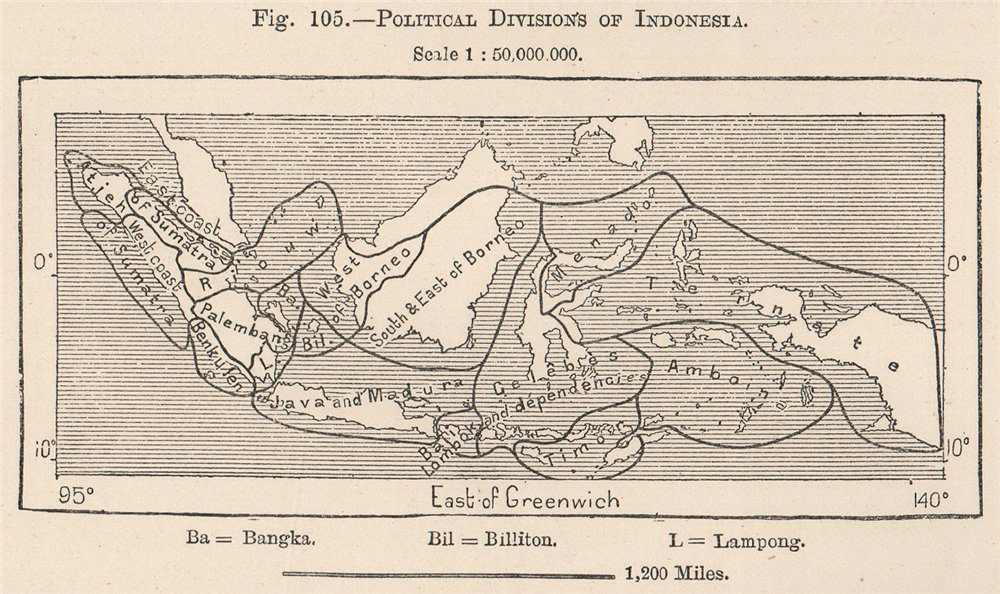 Associate Product Political divisions of Indonesia. East Indies 1885 old antique map plan chart
