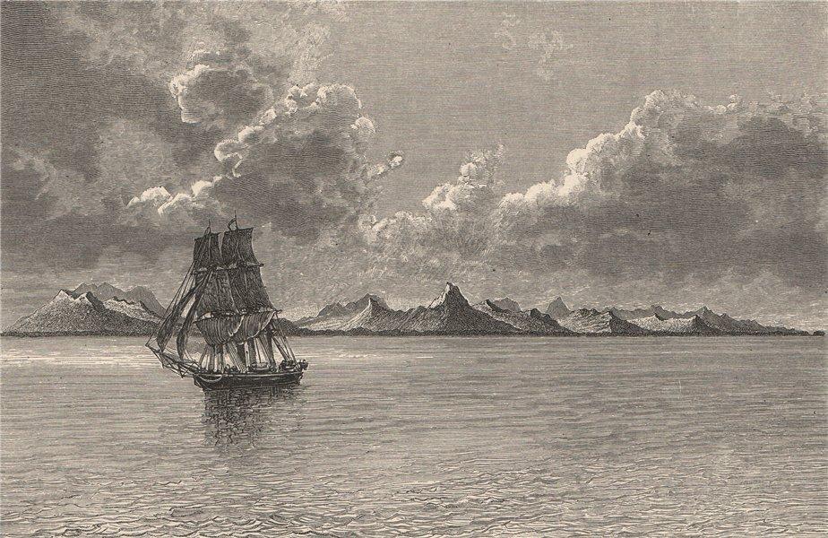 Associate Product General view of Ualan (Kosrae) Island, Caroline Islands, Micronesia 1885 print