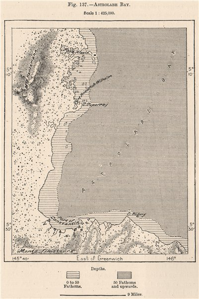 Associate Product Astrolabe Bay. Papua New Guinea. Madang. Papuasia 1885 old antique map chart