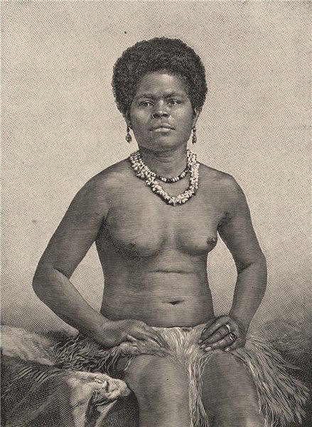 Associate Product New Caledonian Woman. Melanesia 1885 old antique vintage print picture