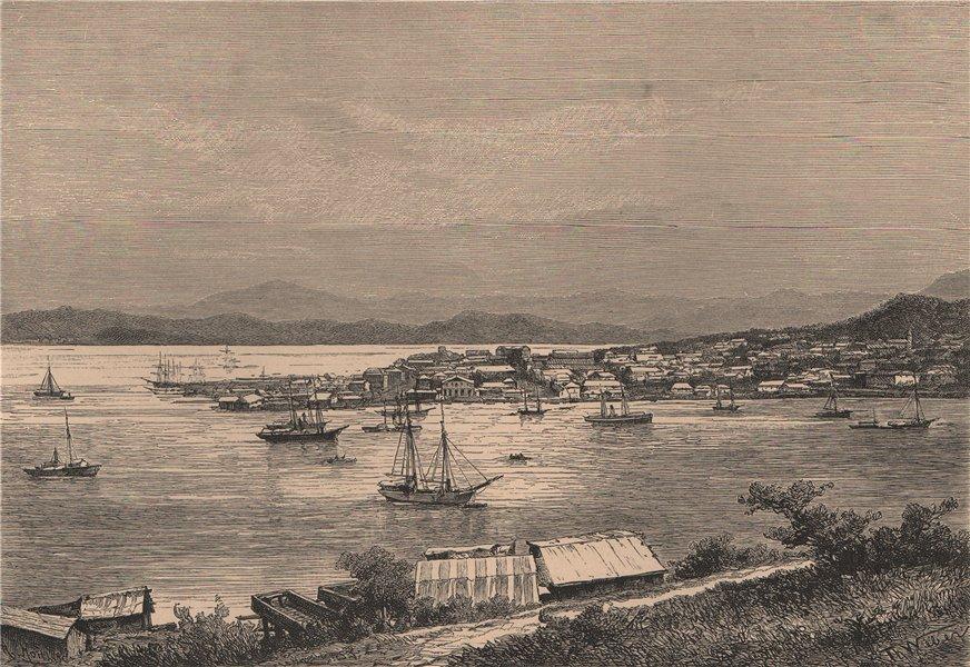 Associate Product View of Noumea, from the Artillery barracks. New Caledonia. Melanesia 1885