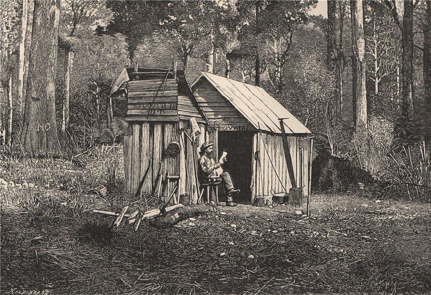 Associate Product Encampment of Australian Squatters 1885 old antique vintage print picture