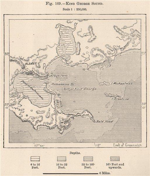 King George Sound. Australia 1885 old antique vintage map plan chart