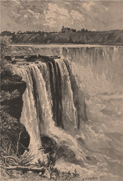 Associate Product The Horse Shoe Falls, Niagara - View from Goat Island. North America 1885