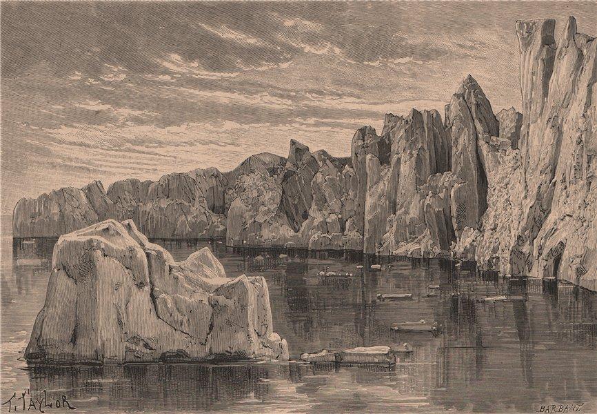 Associate Product Front of the Sermitsialik Glacier, near Ivittuut. Greenland 1885 old print
