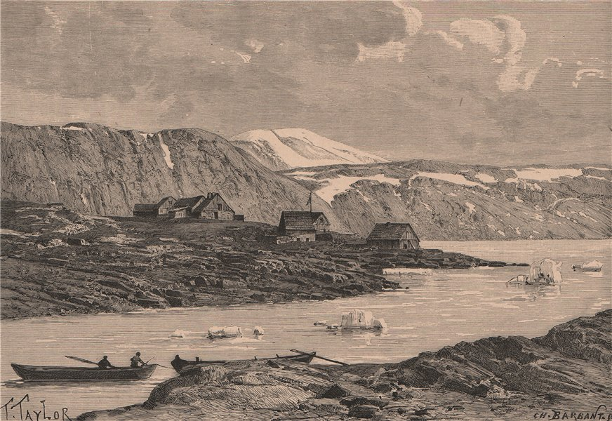 Associate Product General view of Upernavik. Greenland 1885 old antique vintage print picture