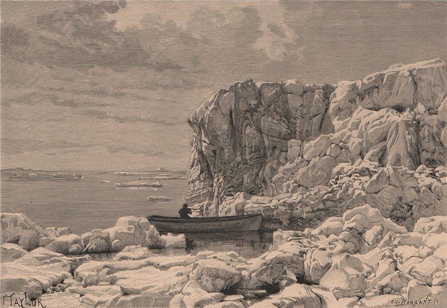 Associate Product Drift Ice on the Arctic Ocean. Canadian Arctic Archipelago 1885 old print