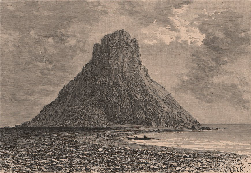 Associate Product Old Bogoslof peak, Aleutian Islands. Alaska 1885 antique print picture