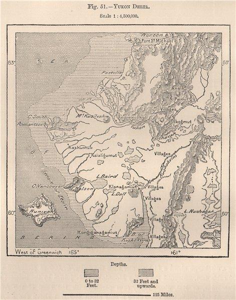 Associate Product Yukon Delta. Alaska 1885 old antique vintage map plan chart