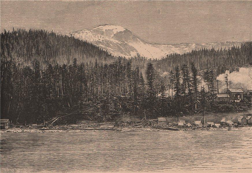 Associate Product Alaskan scenery - View taken at Juneau, Douglas Island 1885 old antique print