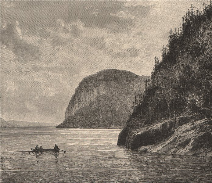 Associate Product Eternity Cape - View from Trinity Rock. Saguenay River, Quebec, Canada 1885