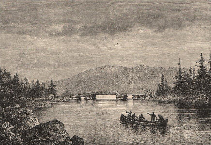 Associate Product Ship-Harbour, North of Halifax, Nova Scotia. Canada 1885 old antique print