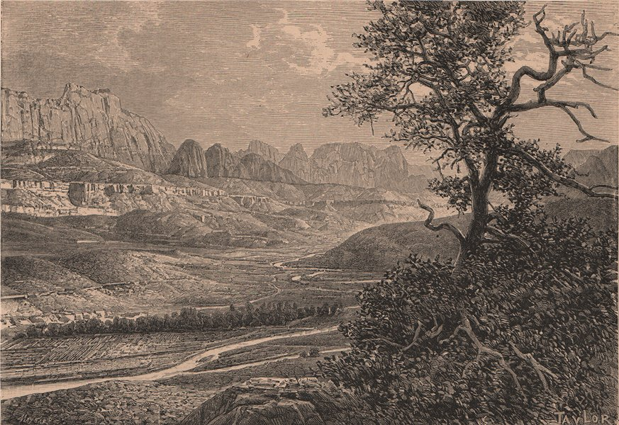 Associate Product The Utah High Plateau region - Pink Cliffs & Upper Valley of the Virgin 1885