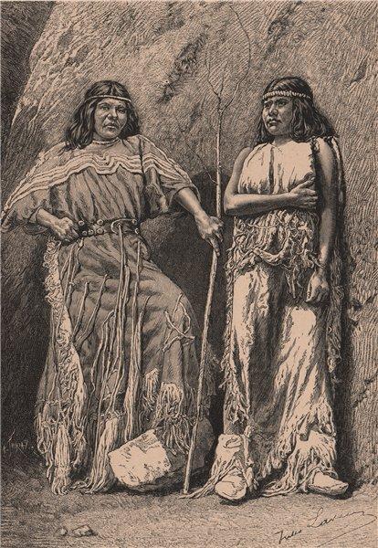 Associate Product Kai-Vav-it or Kaibab Women, Pah-Ute Nation. USA. Native Americans 1885 print