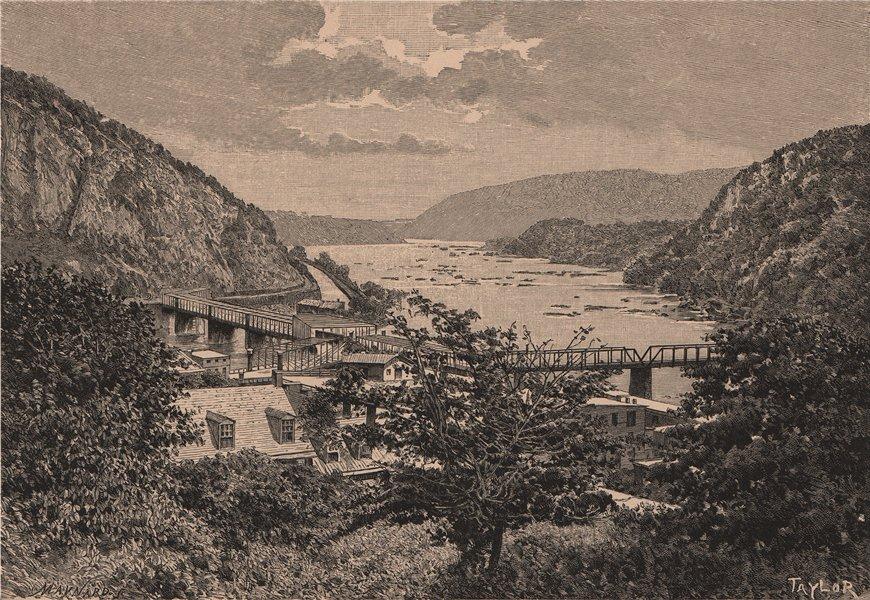 Associate Product Harper's Ferry. West Virginia 1885 old antique vintage print picture