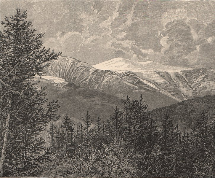 Associate Product A view of the White Mountains, in New Hampshire 1885 old antique print picture