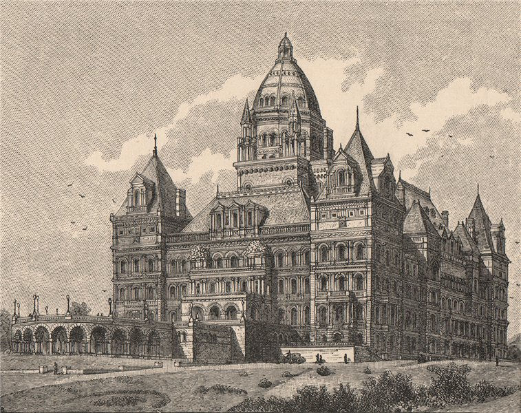 Associate Product The New Capitol at Albany. New York 1885 old antique vintage print picture