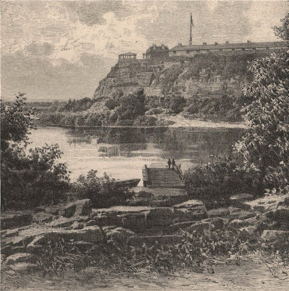 Associate Product Mississippi Scenery; view taken at Fort Snelling. Minnesota 1885 old print