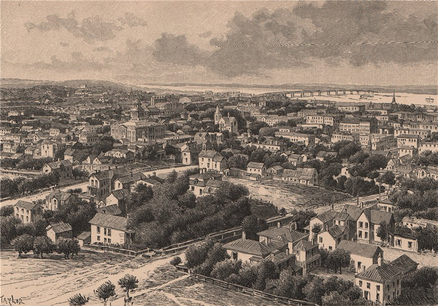 Associate Product General view of Omaha. Nebraska 1885 old antique vintage print picture